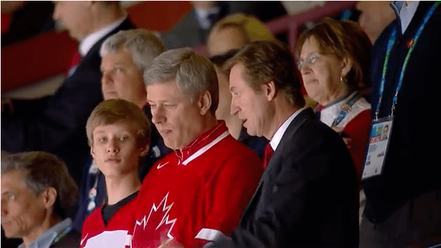 stephen harper and wayne gretzky